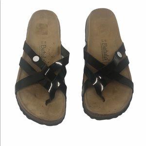 Betula by Birkenstock Vinja Black Patent Sandals